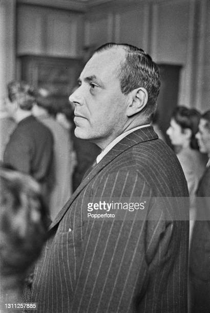 German journalist Hans Kahle attends a meeting of Anti Nazi German nationals aiming to form a Free Germany Movement at Trinity Church Hall in...