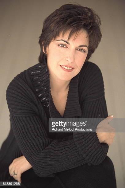 German journalist Ruth Elkrief's photo studio