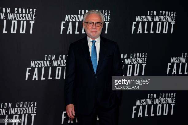 German journalist Wolf Blitzer arrives for a screening of 'Mission Impossible Fallout' at the Smithsonian National Air and Space Museum on July 22 in...