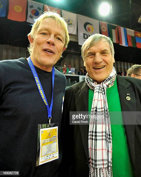 German judo legends, two time European champion Alexander Von der Groeben and Olympic and World silver medallist Klaus Glahn at the Dusseldorf Grand...