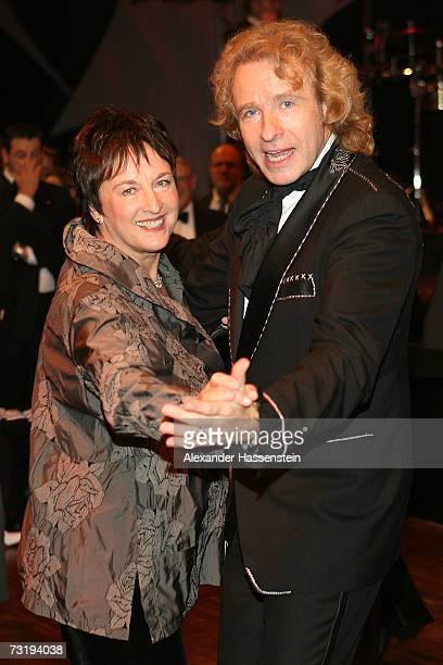 German Justice minister Brigitte Zypries dances with TVpresenter Thomas Gottschalk during the 2007 Sports Gala Ball des Sports at the RheinMain Hall...