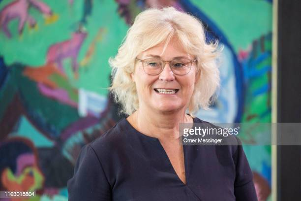 German Justice Minister Christine Lambrecht attends the weekly German federal Cabinet meeting on August 21 2019 in Berlin Germany The weekly Federal...