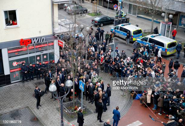 German Justice Minister Christine Lambrecht German Interior Minister Horst Seehofer Hesse's State Premier Volker Bouffier and Hesse state Interior...