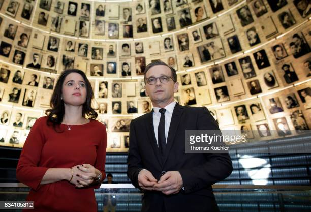 German Justice Minister Heiko Maas and Ayelet Shaked Justice Minister of Israel visit the Yad Vashem Holocaust Memorial museum commemorating the six...
