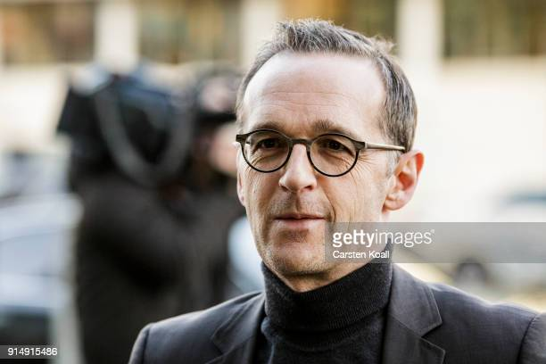 German Justice Minister Heiko Maas arrives for the coalition negotiations at CDU headquarter for what is supposed to be the last day of government...
