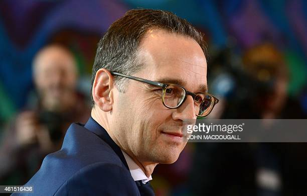 German Justice Minister Heiko Maas attends a weekly meeting of the German cabinet at the chancellery in Berlin January 14 2015 AFP PHOTO / JOHN...