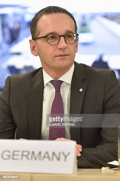 German Justice Minister Heiko Maas attends an Informal meeting of Ministers for Justice and Home Affairs of the European Union and Eastern...