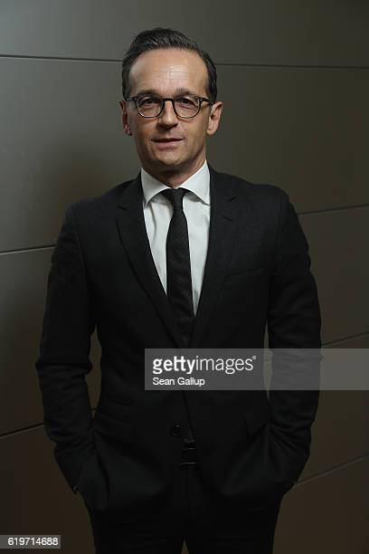 German Justice Minister Heiko Maas poses for a brief portrait session on November 1 2016 in Berlin Germany Maas is a German Social Democrat and...