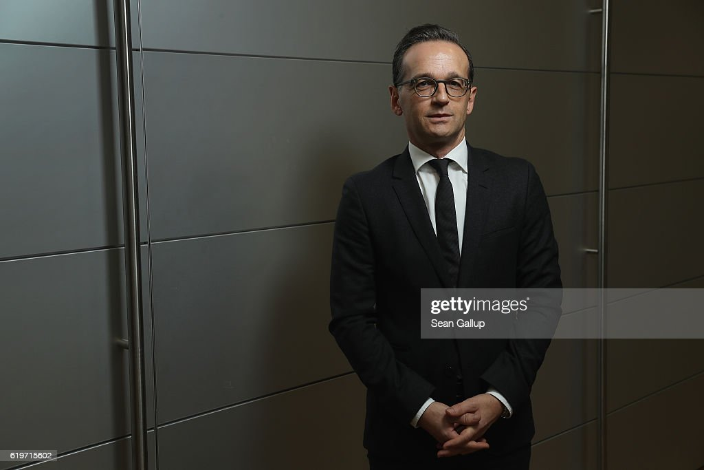 German Justice Minister Heiko Maas poses for a brief portrait session on November 1, 2016 in Berlin, Germany. Maas is a German Social Democrat (SPD) and member of the SPD federal managing board.