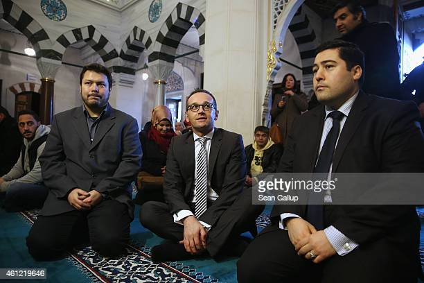 German Justice Minister Heiko Maas visits midday Friday prayers with mosque chairman Ender Cetin at the Turkishspeaking Sehitlik Mosque on January 9...