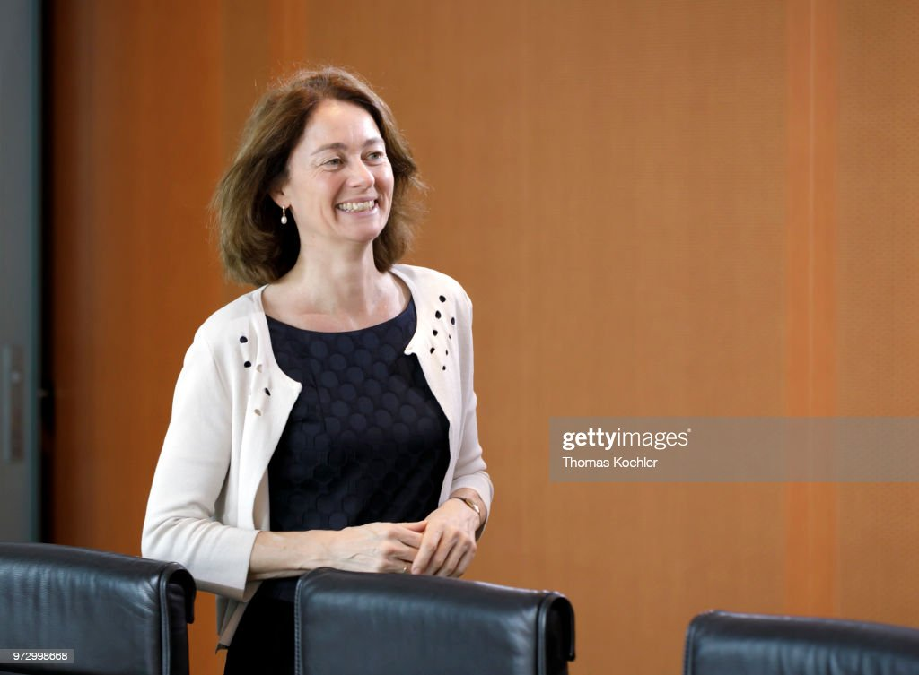 German Justice Minister Katarina Barley arrives for a Weekly Government Cabinet Meeting on June 13, 2018 in Berlin, Germany.