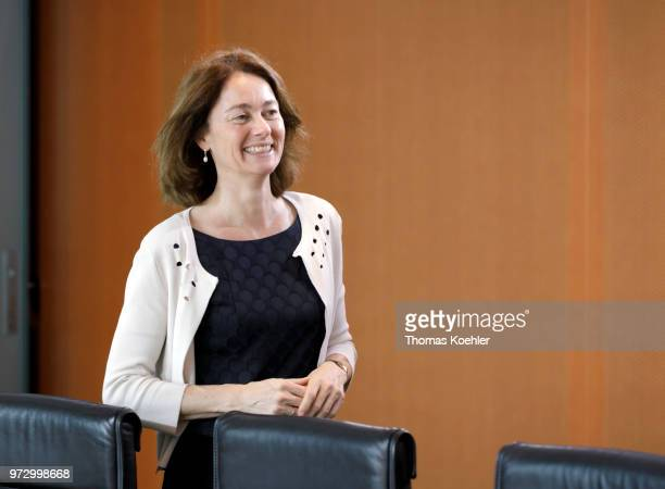 German Justice Minister Katarina Barley arrives for a Weekly Government Cabinet Meeting on June 13 2018 in Berlin Germany