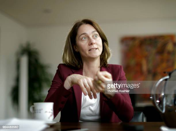 German Justice Minister Katarina Barley speaks during an interview on May 02 2018 in Berlin Germany