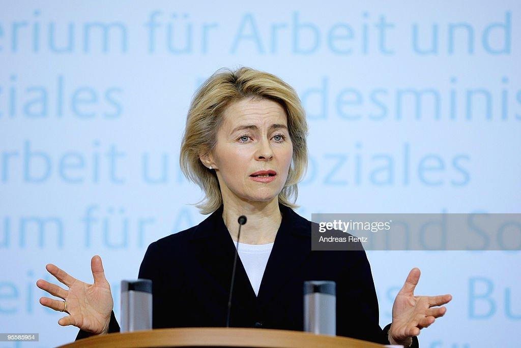 Von der Leyen Speaks On Unemployment In Germany