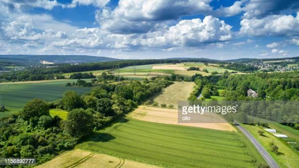 deutsche landschaft - luftbild - ollo stock-fotos und bilder