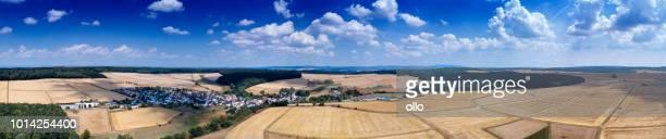 Deutschen Landschaft - Rheingau-Taunus-Gebiet, Panorama Luftbild