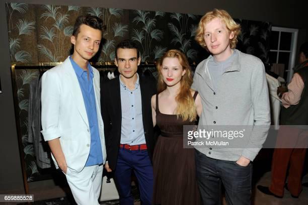 German Larkin, Vassili Gorelov, Olga Rei and Valentine Uhovski attend JOSEPH ALTUZARRA Private Cocktail Party at THE WEBSTER at The Webster on...