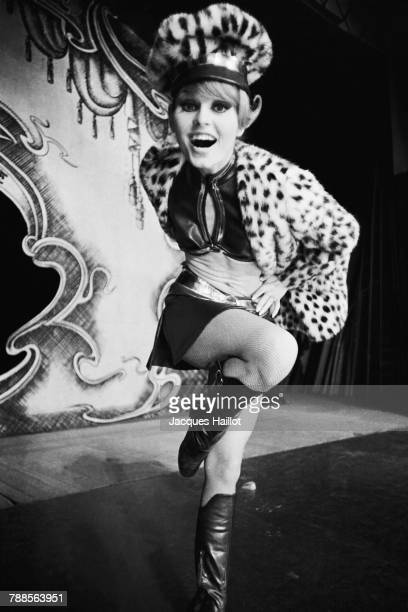 German lead dancer Marlene Charell on stage at the Folies Bergeres
