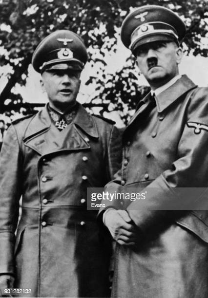 German leader Adolf Hitler with Walther von Brauchitsch CommanderinChief of the German Army on the Russian Front during World War II 1941