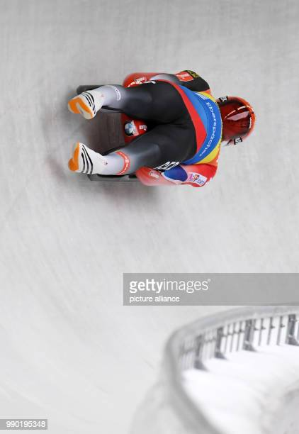 German luger Felix Loch in action during the men's singles event of the Luge World Cup 2018 in Schonau am Konigssee in Germany, 06 January 2018....