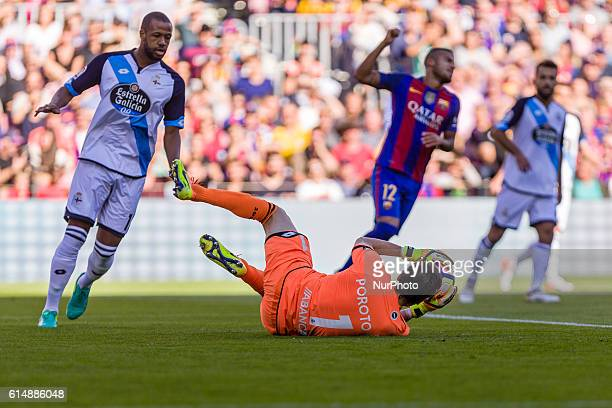 German Lux during the match between FC Barcelona vs RC Deportivo for the round 8 of the Liga Santander played at Camp Nou Stadium on 15th Oct 2016 in...