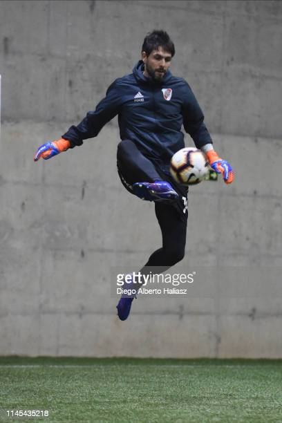 German Lux of River Plate during a training session at CAT Alfredo Gottardi on May 21 2019 in Curitiba Brazil River Plate will face Atletico...