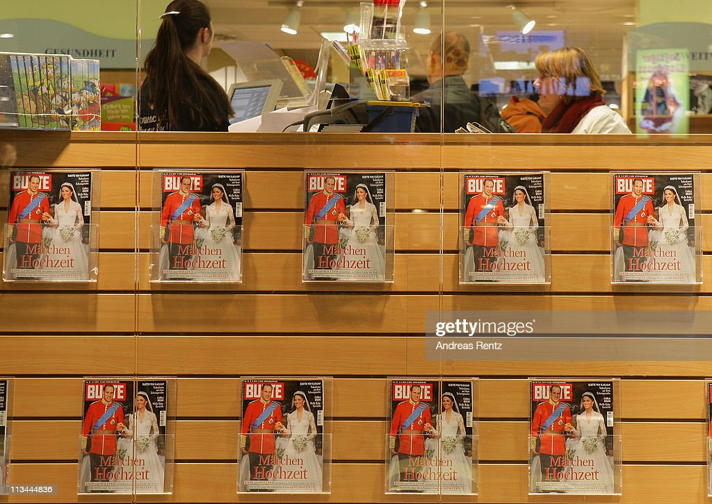 A German magazine shows on front page the Royal Highnesses Prince William, Duke of Cambridge and Catherine, Duchess of Cambridge at a news stand on May 2, 2011 in Berlin, Germany. The marriage of the second in line to the British throne was led by the Archbishop of Canterbury and was attended by 1900 guests, including foreign Royal family members and heads of state April 29.