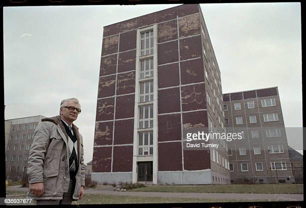 German Man Near Buildings