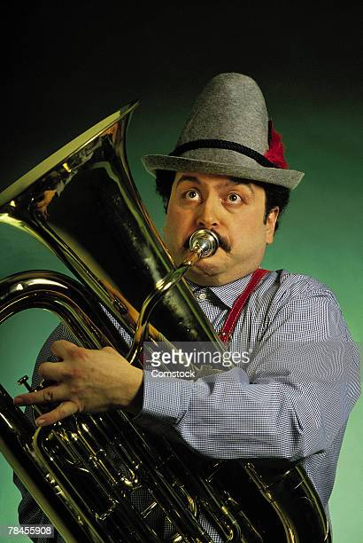 German man playing the tuba