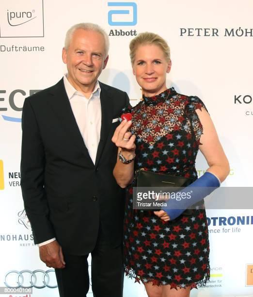 German manager Ruediger Grube and cook Cornelia Poletto attend the Charity Evening 'Das kleine Herz im Zentrum' at Curio Haus on June 22, 2017 in...