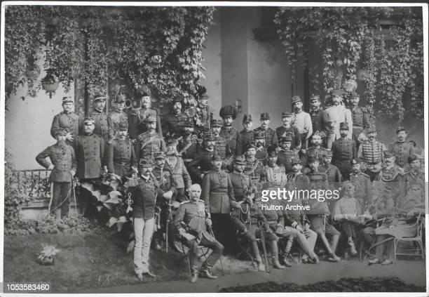 German Manoevres 1884 German Manoevres 1884 2 OberstLieut Jefrem Velimirovitsch of Serbia 1 GeneralMajor Nozou of Japan 39 Major v Schlieben of...