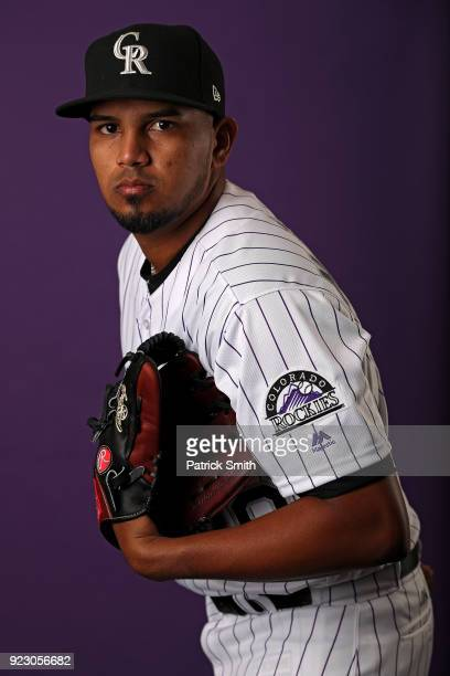 German Marquez of the Colorado Rockies poses on photo day during MLB Spring Training at Salt River Fields at Talking Stick on February 22 2018 in...