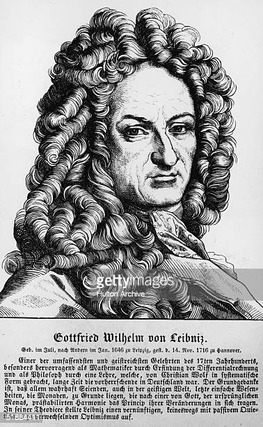 German mathematician, philosopher and historian Gottfried Wilhelm von Leibniz, circa 1690.