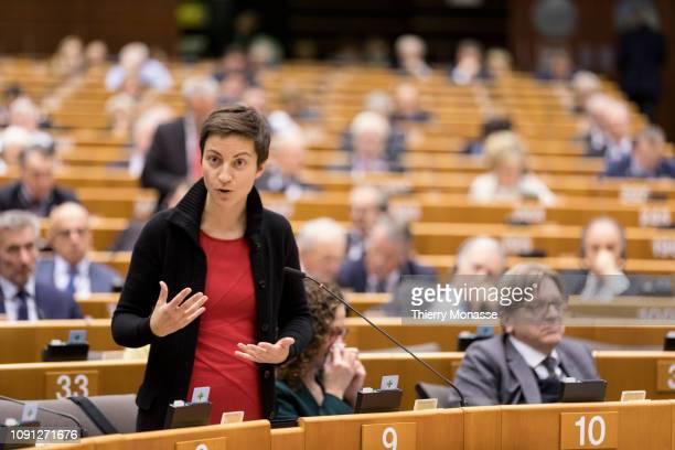 German Member of the European Parliament Franziska Maria Ska Keller attends a session of the European Parliament on Holocaust Remember Day on January...