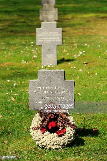 german military cementery, sandweiler, luxembourg - german military stock pictures, royalty-free photos & images