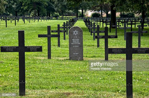 German Military Cemetery at Neuville-Saint-Vaast, France, 21 July 2014. This cemetery, with 44,833 burials, is the largest in France for German...
