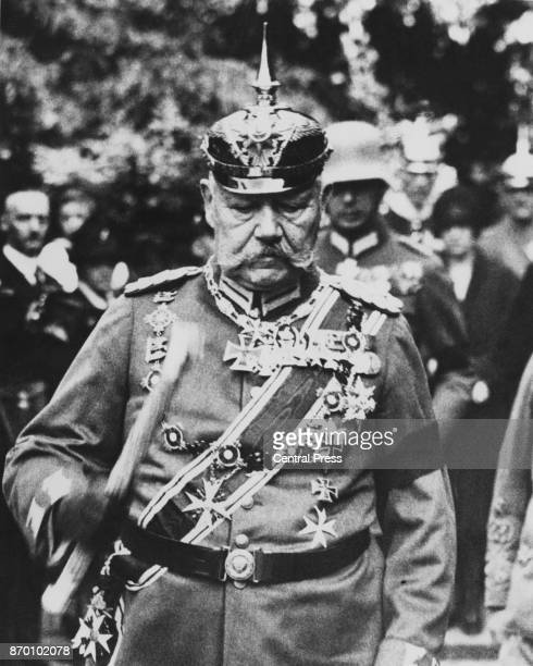 German military leader and future President of the German Reich Paul von Hindenburg during World War I circa 1916