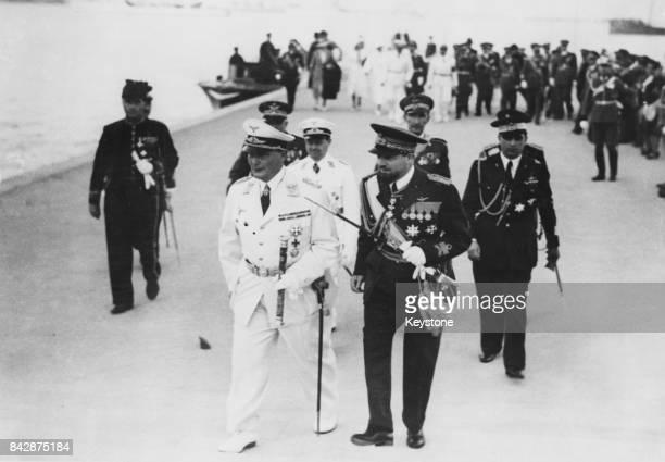 German military leader Hermann Goering with Marshal Italo Balbo in Tripoli Libya 12th April 1939