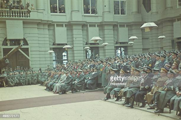 POTSDAM GERMANY German Military officers including Hermann Goering Wilhelm Keitel Erich Raeder Heinrich Himmler Josef Dietrich and Fedor von Bock...