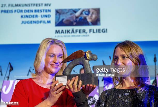 German Minister for Family Affairs Seniors Women and the Youth Manuela Schwesig hands over the 'LEOKinder' and youth award for the best youth movie...