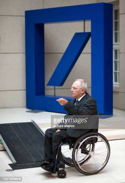 German Minister for Finance speaks during the AtlantikBruecke and American Council on Germany conference on the foreign and security policy and on...