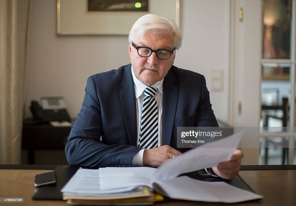 German Minister for Foreign Affairs Frank-Walter Steinmeier during a break at the Palais Coburg Hotel, the venue of the nuclear talks in Vienna, Austria on June 28, 2015. Negotiators with USA, Britain, China, France, Germany and Russia are meeting with Iran to finalize an interim deal over Iran's nuclear program. Photo by Thomas Imo/Photothek via Getty Images)