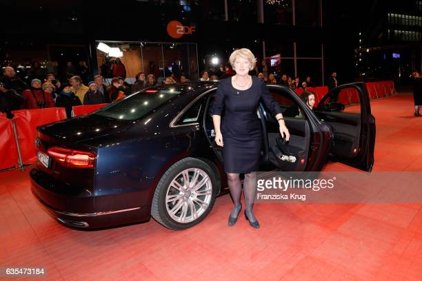 German Minister of Culture and media Monika Gruetters arrives at the 'Return to Montauk' premiere during the 67th Berlinale International Film...