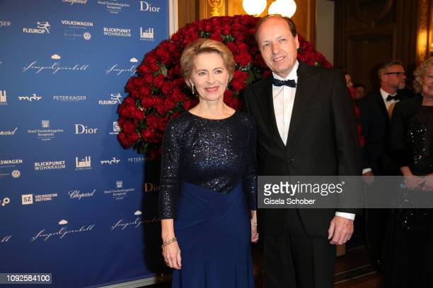 German Minister of defense Dr Ursula von der Leyen and Heiko von der Leyen during the 14th Semper Opera Ball 2019 at Semperoper on February 1 2019 in...
