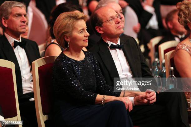 German Minister of defense Dr Ursula von der Leyen and her husband Heiko von der Leyen during the 14th Semper Opera Ball 2019 at Semperoper on...
