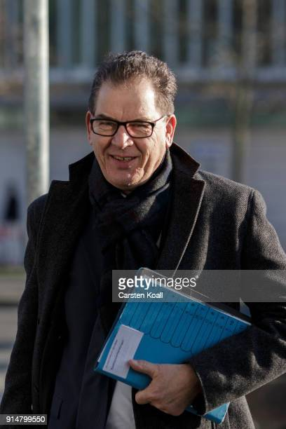 German Minister of Development Gerd Mueller arrives for the coalition negotiations at CDU headquarter for what is supposed to be the last day of...