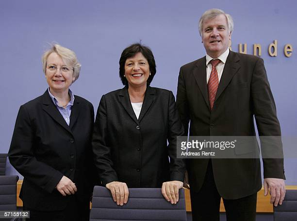 German Minister of Education Annette Schavan German Health Minister Ulla Schmidt and German Minister of Agriculture and Consumer Protection Horst...
