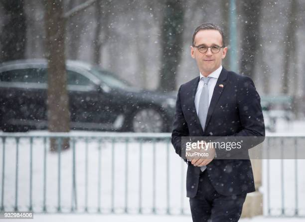 German Minister of Foreign Affairs Heiko Maas before the meeting with Polish Minister of Foreign Affairs Jacek Czaputowicz at Lazienki Palace in...