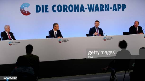German Minister of Interior Construction and Homeland Horst Seehofer Head of the Robert Koch Institute Lothar Wieler German Health Minister Jens...
