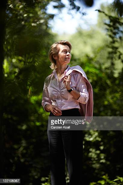 German Minister of Work and Social Issues and member of the German Christian Democrats Ursula von der Leyen poses during a portrait session in the...